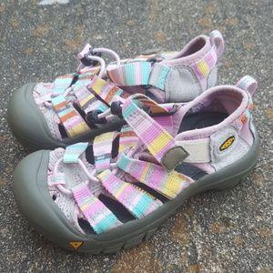 Keen Toddler Girls Sandals Pink Rainbow Pastels 11